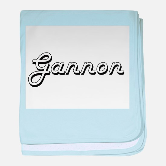 Gannon Classic Style Name baby blanket