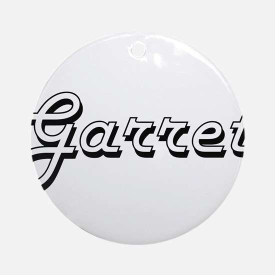 Garret Classic Style Name Ornament (Round)