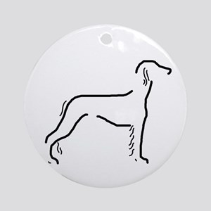 Saluki Sketch Ornament (Round)