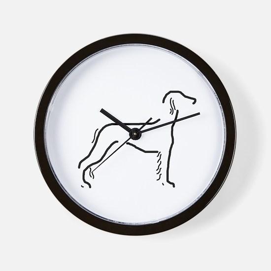 Saluki Sketch Wall Clock