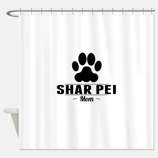 Shar Pei Mom Shower Curtain
