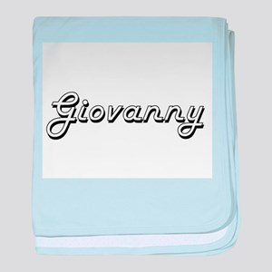 Giovanny Classic Style Name baby blanket
