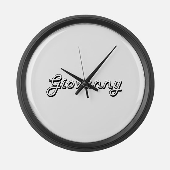 Giovanny Classic Style Name Large Wall Clock