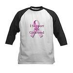 I Support My Girlfriend Kids Baseball Jersey