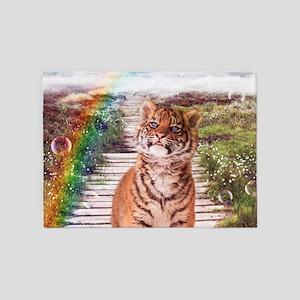 Tigers soap bubbles 5'x7'Area Rug