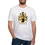 Plessinger Family Crest Fitted T-Shirt