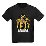 Plessinger Family Crest Kids Dark T-Shirt