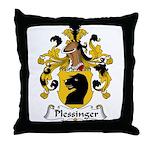 Plessinger Family Crest Throw Pillow