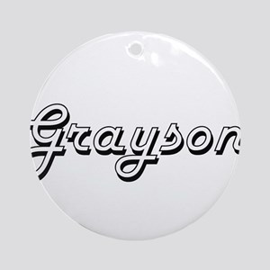 Grayson Classic Style Name Ornament (Round)