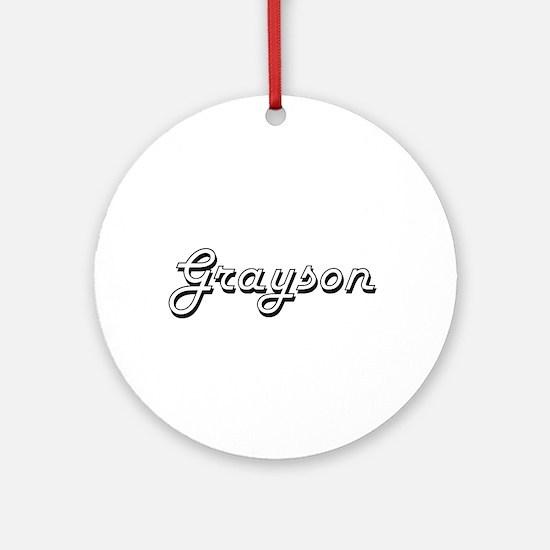 Grayson Classic Style Name Ornament (Round)
