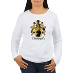 Plessinger Family Crest Women's Long Sleeve T-Shir