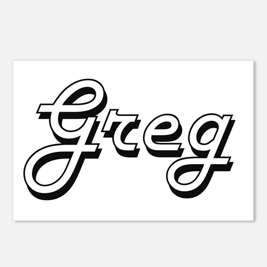 Greg Classic Style Name Postcards (Package of 8)