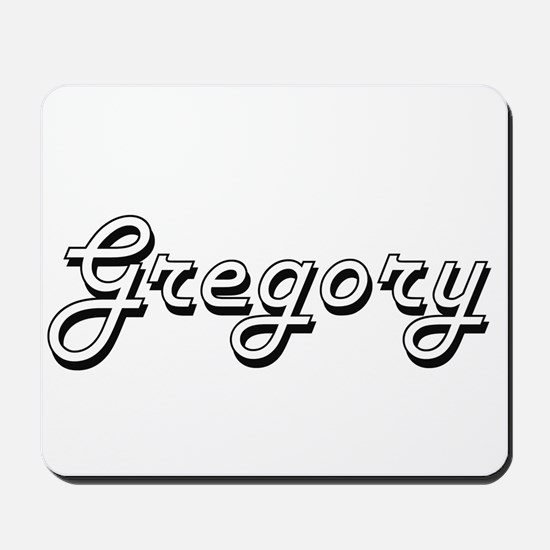 Gregory Classic Style Name Mousepad