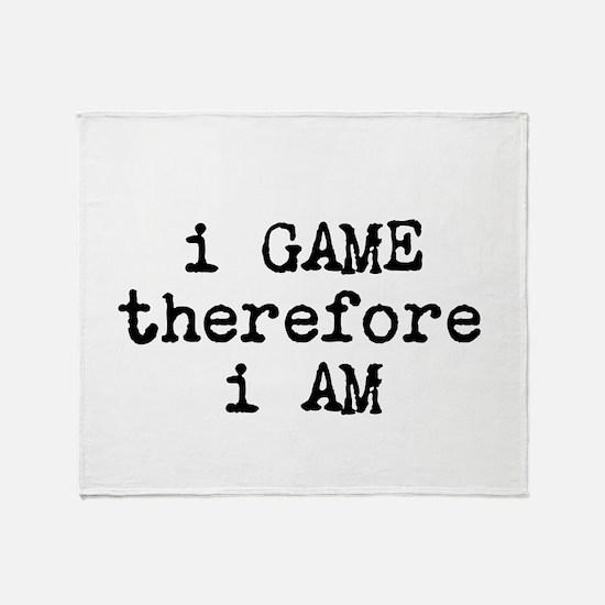 I Love Gaming Throw Blanket