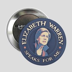 """Warren Speaks For Me 2.25"""" Button"""