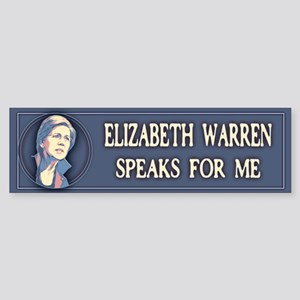 Warren Speaks For Me Sticker (Bumper)