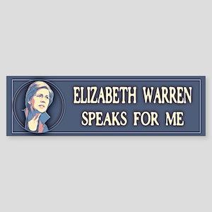 Warren Speaks For Me Sticker (Bumper)