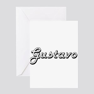 Gustavo Classic Style Name Greeting Cards