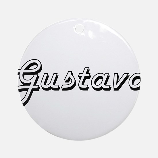 Gustavo Classic Style Name Ornament (Round)