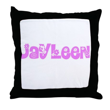 Jayleen Flower Design Throw Pillow