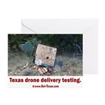 Texas Drone Delivery Failure Greeting Cards