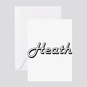 Heath Classic Style Name Greeting Cards