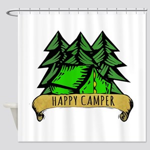 Happy Camper. Shower Curtain