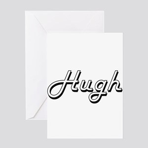 Hugh Classic Style Name Greeting Cards
