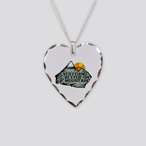Everythings better on a mount Necklace Heart Charm