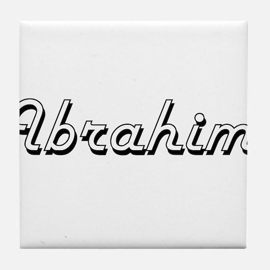 Ibrahim Classic Style Name Tile Coaster