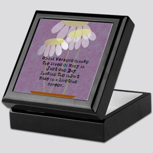 Social Worker Quote Keepsake Box