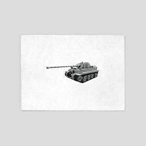 Tiger Panzer 5'x7'Area Rug