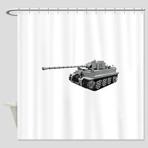 Tiger Panzer Shower Curtain
