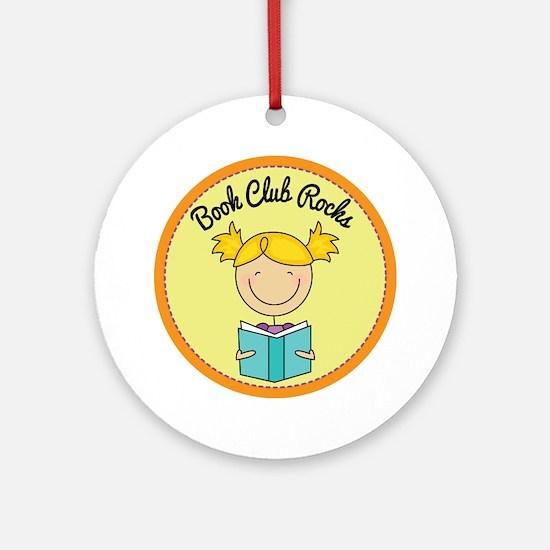 Book Club Rocks Ornament (Round)