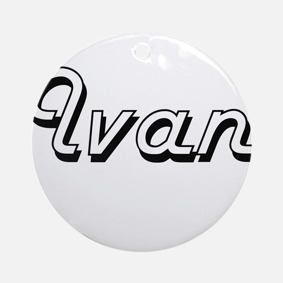 Ivan Classic Style Name Ornament (Round)