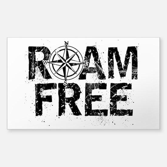 Roam Free. Decal