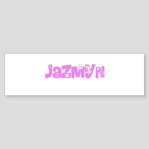 Jazmyn Flower Design Bumper Sticker