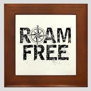 Roam Free. Framed Tile