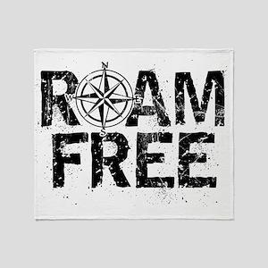 Roam Free. Throw Blanket