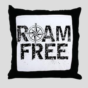 Roam Free. Throw Pillow
