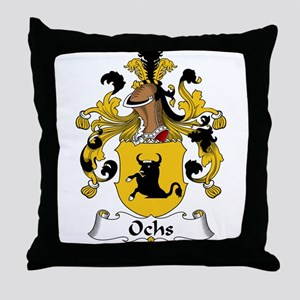 Ochs Family Crest Throw Pillow