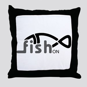 Fish On. Throw Pillow