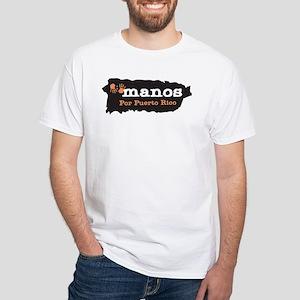 Manos Por Puerto Rico White T-Shirt