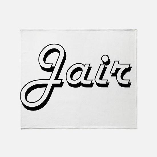 Jair Classic Style Name Throw Blanket