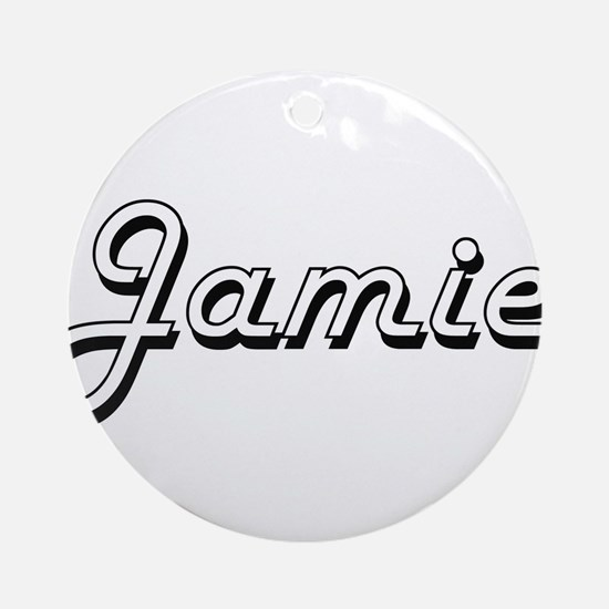 Jamie Classic Style Name Ornament (Round)