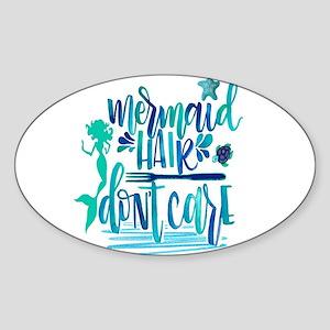 mermaid hair, don't care Sticker