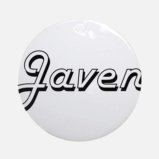 Javen Classic Style Name Ornament (Round)