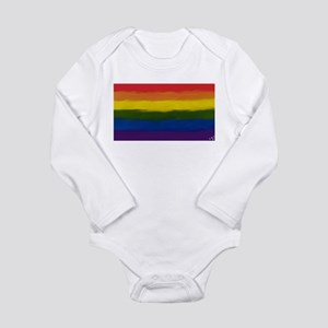 GAY PRIDE RAINBOW FLAG PAINT ART SIGNED Body Suit