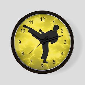Karate Kicker Wall Clock