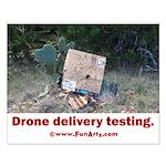 Drone Delivery Failure Small Poster